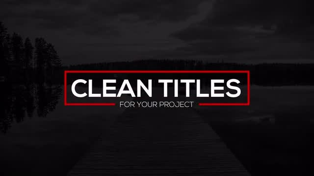 Clean Titles: After Effects Templates