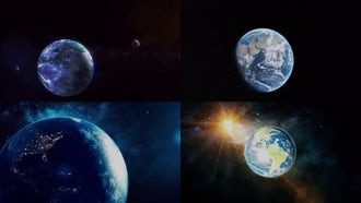 4 Earth Backgrounds: Motion Graphics