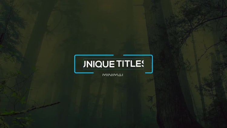 Modern Creative Titles: After Effects Templates