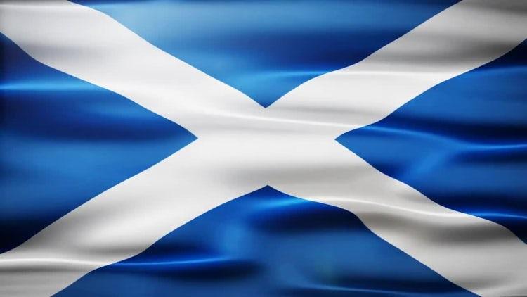 Scotland Flag: Stock Motion Graphics