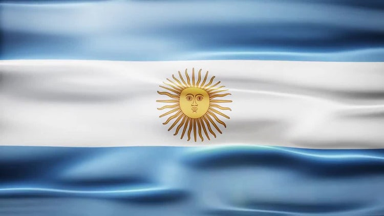 Argentina Flag: Stock Motion Graphics