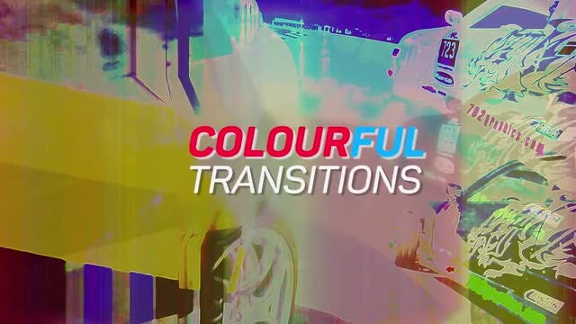 Colourful Transitions: Premiere Pro Templates