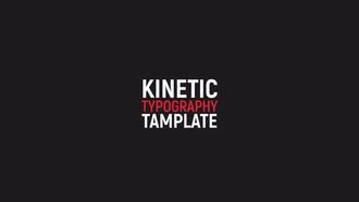 Kinetic Typography: After Effects Templates