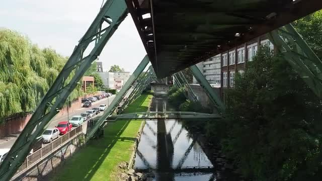 Wuppertal Suspension Railway: Stock Video