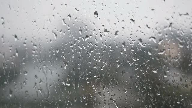 Rain On Window: Stock Video