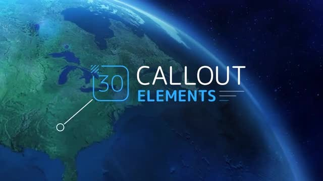 Callout Elements: After Effects Templates
