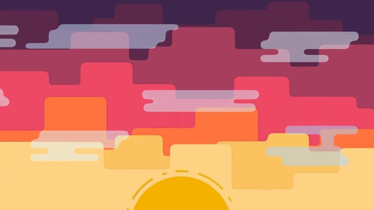 4 Day & Night Transitions: Stock Motion Graphics