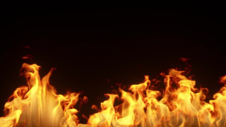 Fire Burns In Slow Motion: Stock Motion Graphics