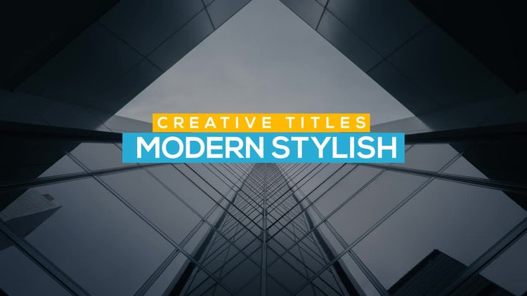 Creative Corporate Titles: After Effects Templates