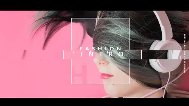 Fashion Modern Intro: After Effects Templates