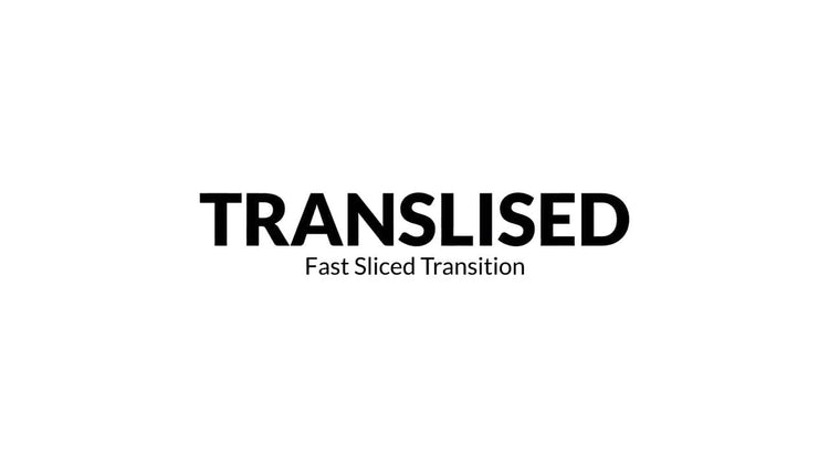 Transliced - Fast Sliced Transitions: Premiere Pro Templates