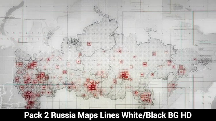 Russia Maps Pack: Stock Motion Graphics