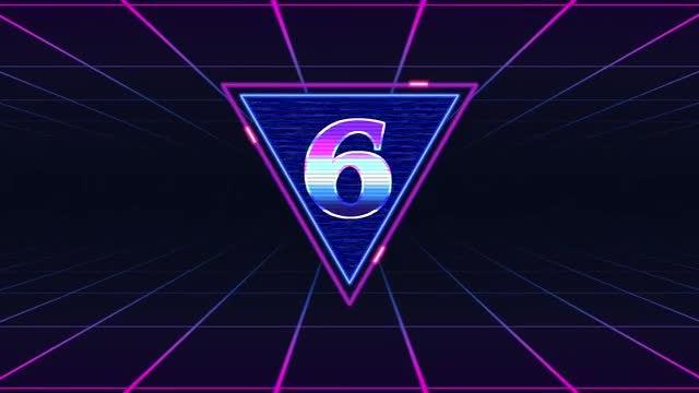 80's Retro Futuristic Countdown: Stock Motion Graphics
