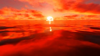 Red Sunlight Reflection On Water: Motion Graphics