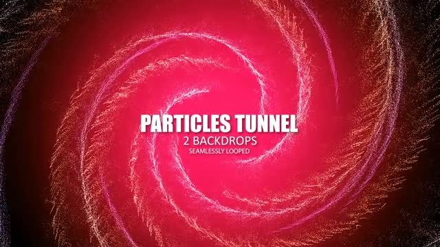 Particles Tunnel: Stock Motion Graphics