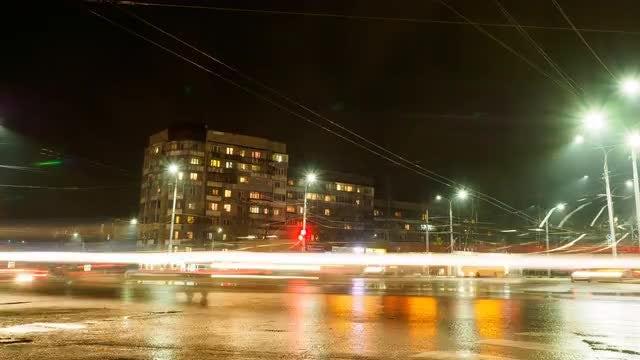 Street Timelapse Background: Stock Video