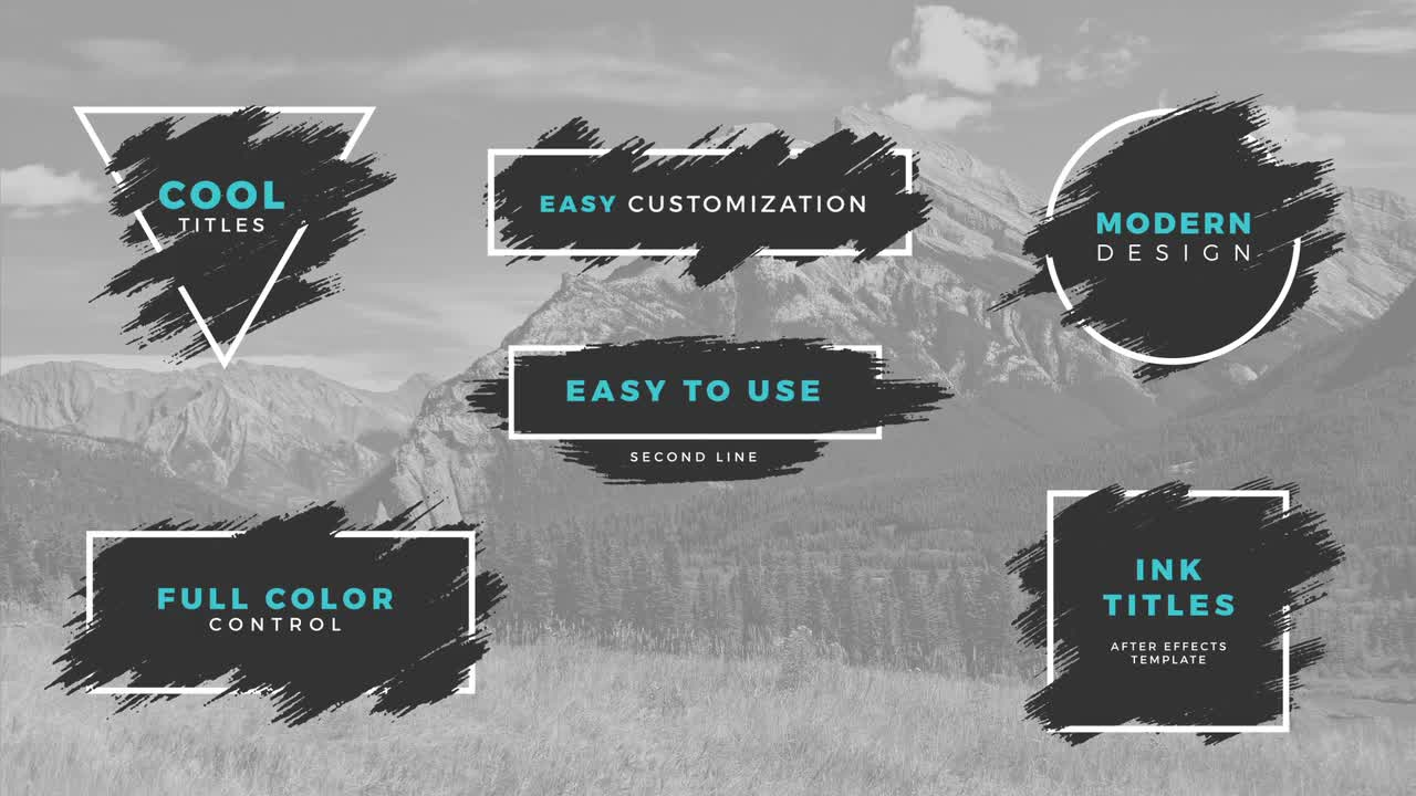Ink Titles - After Effects Templates | Motion Array