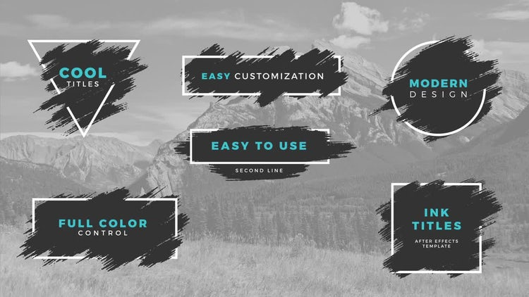 Ink Titles: After Effects Templates