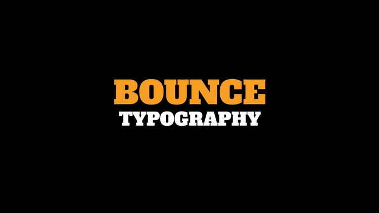 Bounce Typography: Premiere Pro Templates