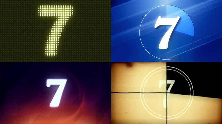 4 Countdown Backgrounds: Stock Motion Graphics