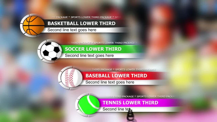 Sports lower third package: After Effects Templates