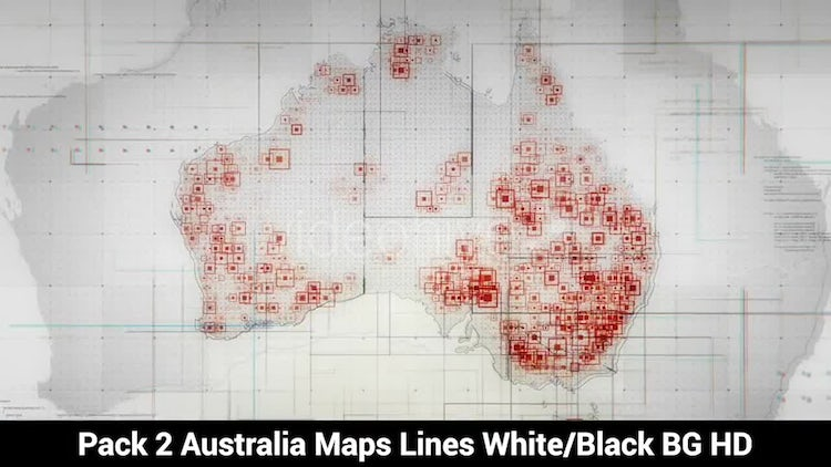 Pack of Australia Maps : Motion Graphics