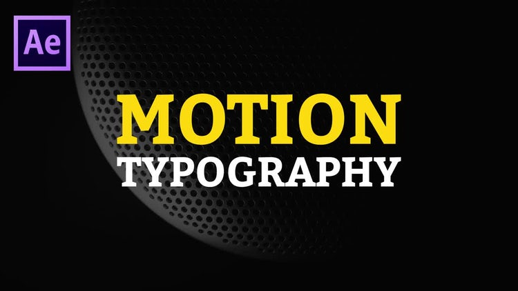After Effects Motion Typography: After Effects Templates
