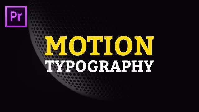 Premiere Pro Motion Typography: Premiere Pro Templates