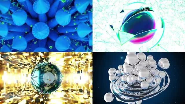 4 Surreal Backgrounds: Stock Motion Graphics