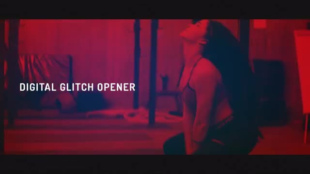 Digital Glitch Opener: After Effects Templates