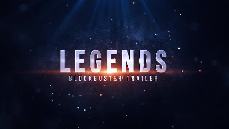 Legends Blockbuster Trailer: After Effects Templates