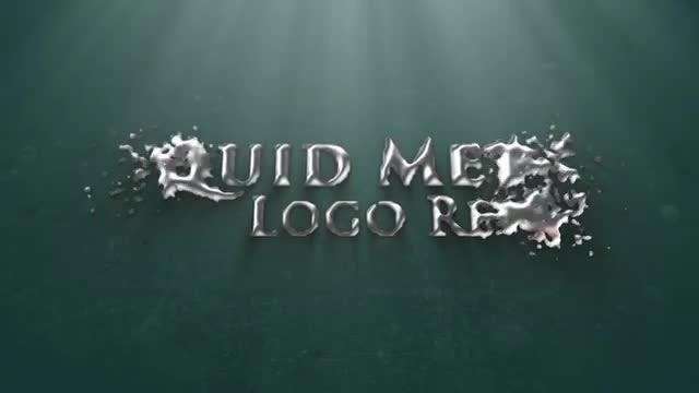 Liquid Metal Logo Reveal: After Effects Templates