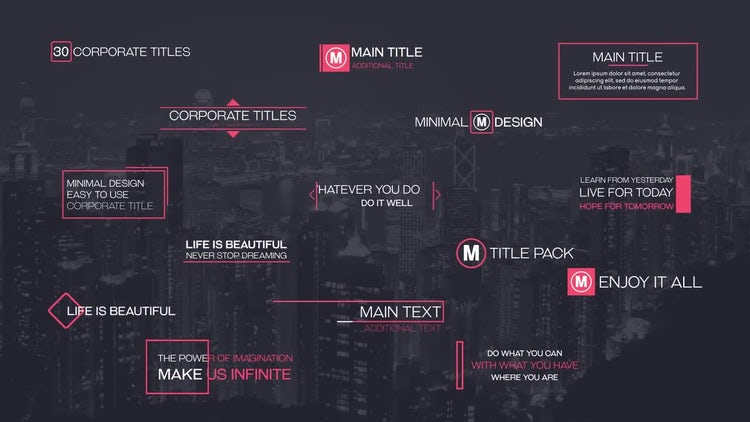 Corporate Titles Pack: After Effects Templates