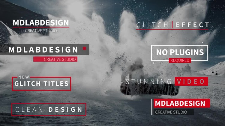 Modern Glitch Titles: After Effects Templates