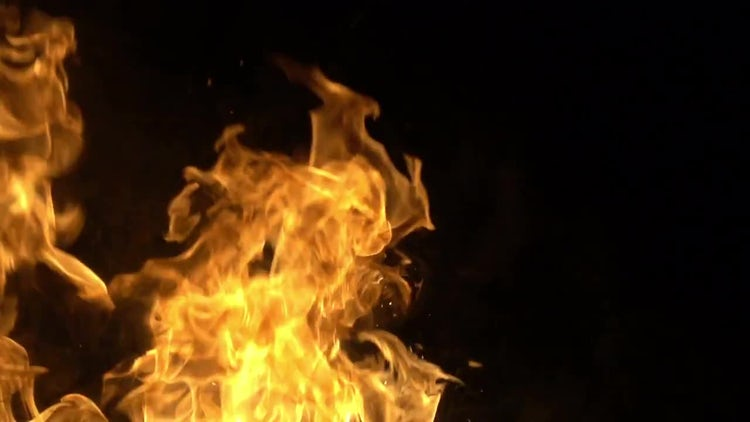 Slow Mo Fire: Stock Video