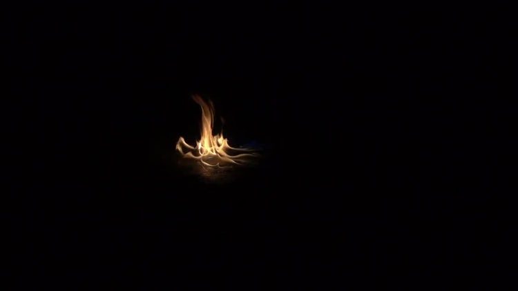 Flame of fire on the floor: Stock Video