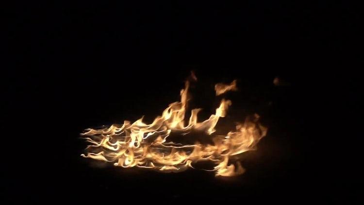 Flame On Floor: Stock Video