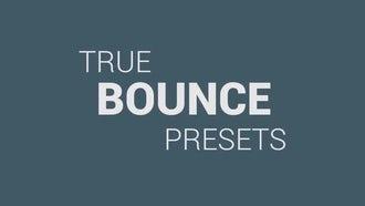 True Bounce Presets: Premiere Pro Templates