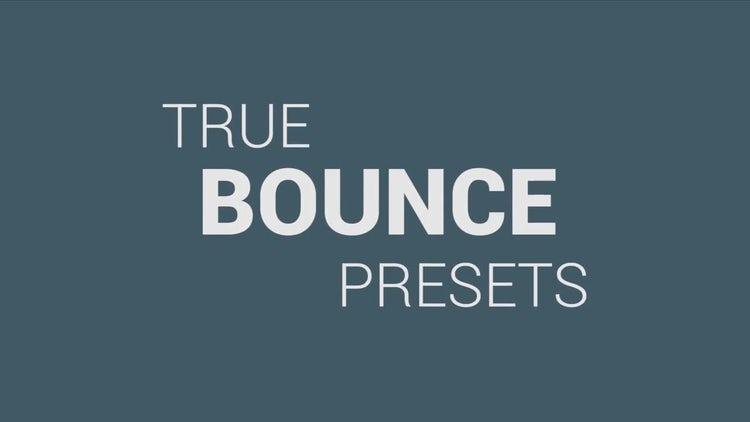 True Bounce Presets - Premiere Pro Presets | Motion Array