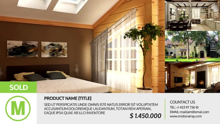 Simple Real-Estate SlideShow: After Effects Templates