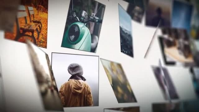 Grid Photo Slideshow: After Effects Templates