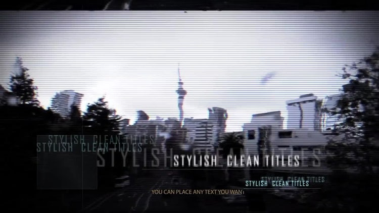 Urban Glitch Style Opener: After Effects Templates