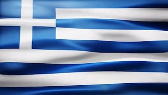 Greece Flag: Motion Graphics