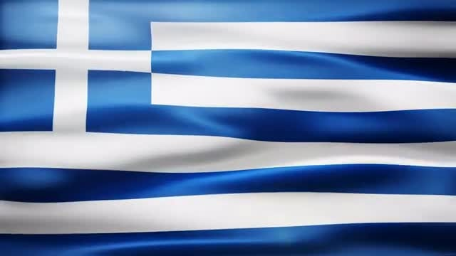 Greece Flag: Stock Motion Graphics