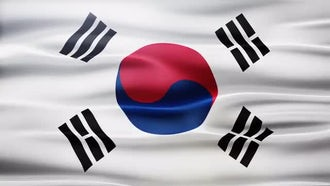 South Korea Flag: Motion Graphics