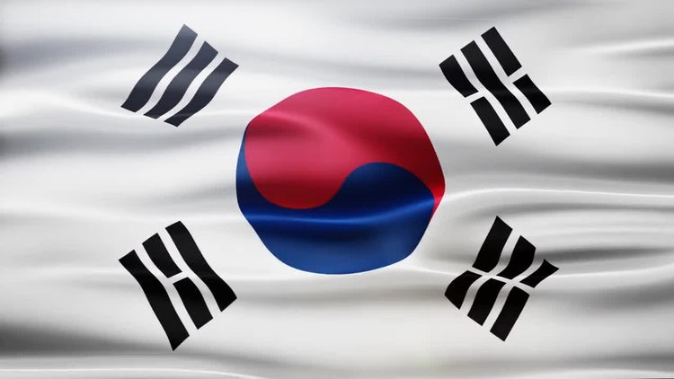 South Korea Flag: Motion Graphics