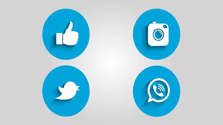 Social Media Icons: Stock Motion Graphics