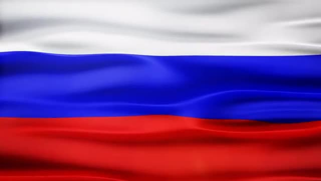 Russia Flag: Stock Motion Graphics