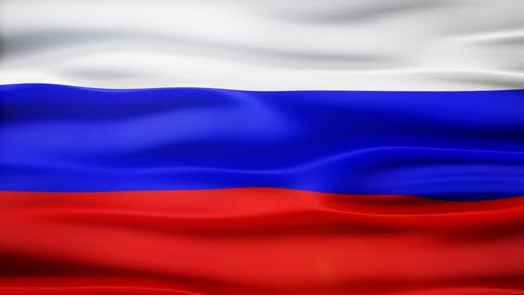 Russia Flag: Motion Graphics