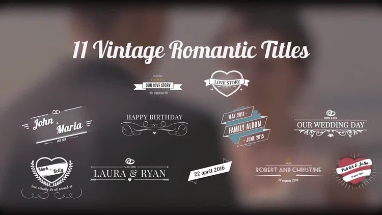 Vintage Romantic Titles: After Effects Templates
